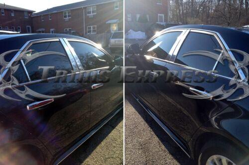 2008-2013 Cadillac CTS 4Dr Sedan 6Pc Chrome Pillar Post Stainless Steel Trim