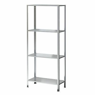 New 4 Tier Metal Shelving Unit Display Book  Shelf  Furniture 140 x 60 x 27cm