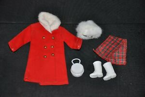 Vintage-1971-BARBIE-Doll-Clone-JC-PENNEY-Red-amp-Fur-WINTER-COAT-Outfit-Hat-Boots