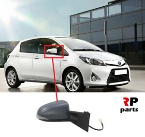 FOR-TOYOTA-YARIS-2011-2014-WING-MIRROR-ELECTRIC-HEATED-PRIMED-7-PIN-RIGHT-LHD
