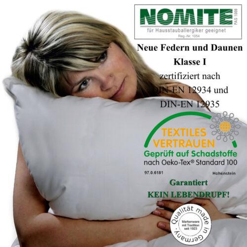 2x Luxus 3 Kammer Daunenkissen Kissen Kopfkissen 80x80 cm Made in Germany