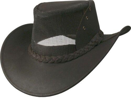 Lederhut aus feinstem Nubuckleder mit großer Lüftung Hut Hüte Lederhüte