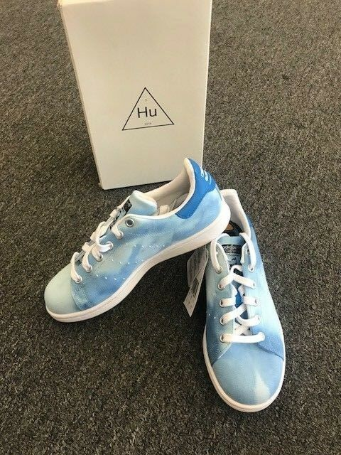 ADIDAS X PHARRELL WILLIAMS HU HOLI STAN SMITH RARE blueE SHOES AC7045 M5 W6 NEW