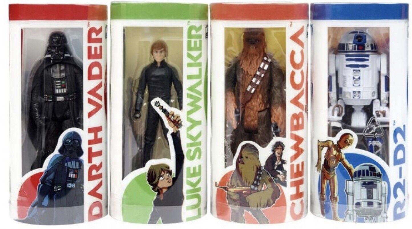 Star Wars Galaxy Of Adventure Wave 1 Set Darth Vader Luke Skywalker Chewbacca