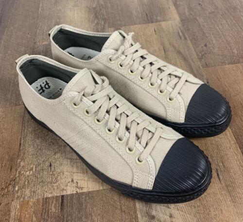 PF Flyers Low Tops Tan Canvas Black Shoes Sneaker