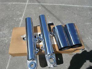 Harley Street Glide Road King  Road Glide 00-13 POLISHED Lower Slider Fork Legs