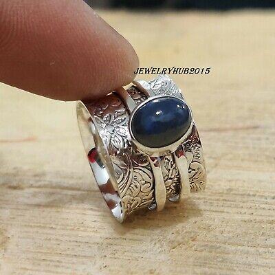 Solid 925 Sterling Silver Spinner Ring Handmade Ring Women Ring Size sr307
