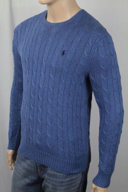 1da049c704cd3e Polo Ralph Lauren Men's Cable Sweater Night Blue S Small 100 Cotton ...