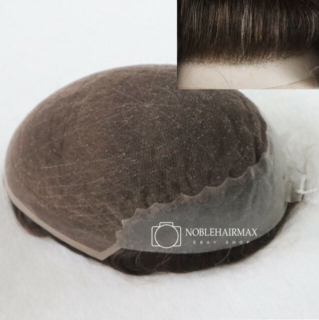 Hair Replacement French Lace with Skin Male Wig Natural Hairpieces Real System