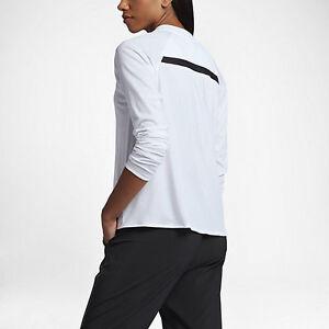 Blanco Sports negro consolidada 805197 Nike Womens larga Camiseta mujer Xl para Nwt manga 883412852487 de Hv8wPv