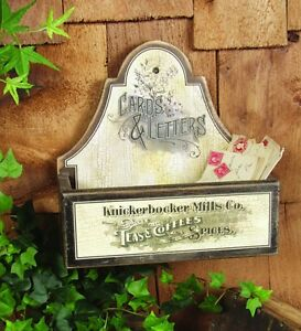Primitive Vintage type Large Wood *Letter Box* Mail* Anitque type Advertising*