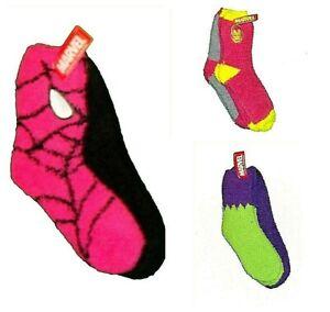 Marvel  Avengers Women/'s   2 Pkg   Fuzzy Cozy Socks Iron Man Hulk Spiderman NWT