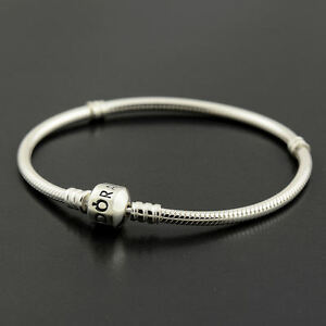 Authentic-Genuine-Pandora-Silver-Clasp-Bracelet-23cm-590702HV-23