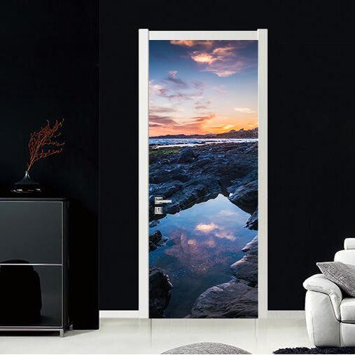 3D Fluss 79 Tür Wandmalerei Wandaufkleber Aufkleber AJ WALLPAPER DE Kyra