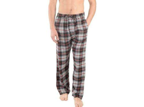 2 Pockets Mens Pajama Pants Lightweight Soft Flannel Plaid Lounge Sleep Bottoms