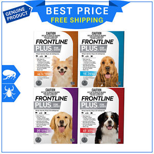 Image Is Loading Frontline Plus Flea And Tick Treatment All Sizes