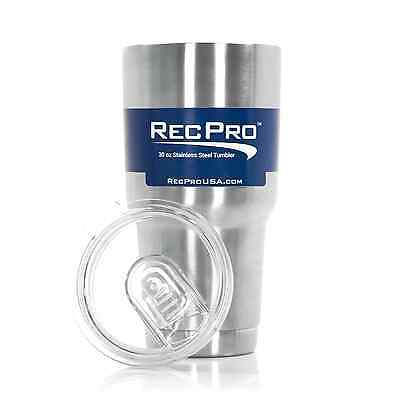 RecPro 30oz Tumbler Vacuum Insulated 18/8 Stainless Steel Cup w/ Slider Lid