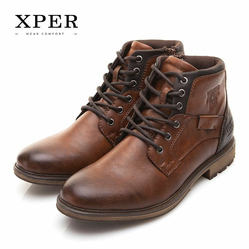 shoes Style Vintage Men Lace Up Casual British Toe Round Flats Leather Canvas