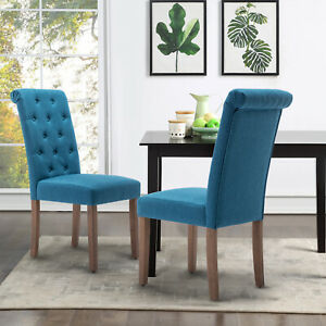 Dining-Chair-Set-of-2-Armchair-Armless-Upholstered-Living-Room-Bedroom-Home