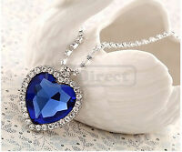 Jewelry Titanic Heart Of The Ocean Crystal Necklace Pendant
