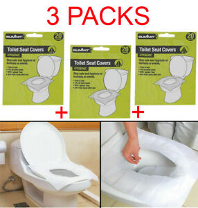 60pk-Summit-Disposable-Paper-Toilet-Seat-Cover-Flushable-Hygienic-Health-Camping