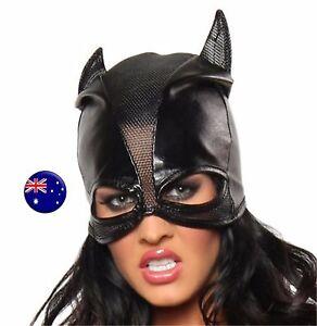 Men-Women-Batman-Bat-Man-Cat-Synthtic-leather-Party-Costume-Black-Eye-Face-Mask