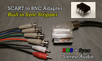 Male Rgb Euro Scart To 4 Bnc + Audio Cable Built In Sync Stripper Xm29 Pvm Etc