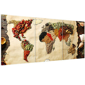 Hd canvas print home decor wall art painting picture food world map hd canvas print home decor wall art painting gumiabroncs Image collections