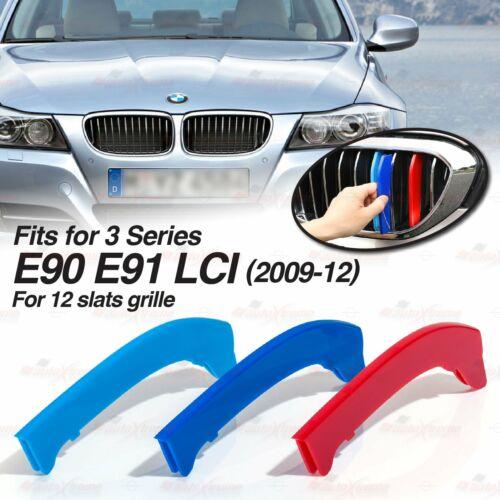 MPower Farbe 12 Leiste Niere Kühlergrill ABDECKUNG für BMW 3er E90 E91 LCI 09-12