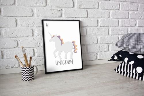 Typography Wall Art Funny Motivational Fashion Print Poster Unicorn