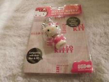 Hello Kitty 8GB USB Flash Drive-Compatible With Both Mac & PC-Pink & White