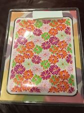 Flowers Printed  jelly silicone skin case for iPad 2 White Pink Orange Green