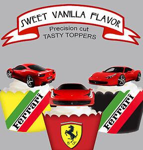 Exotic Car Racing Ferrari Fun Birthday Party Edible Cupcake Cake