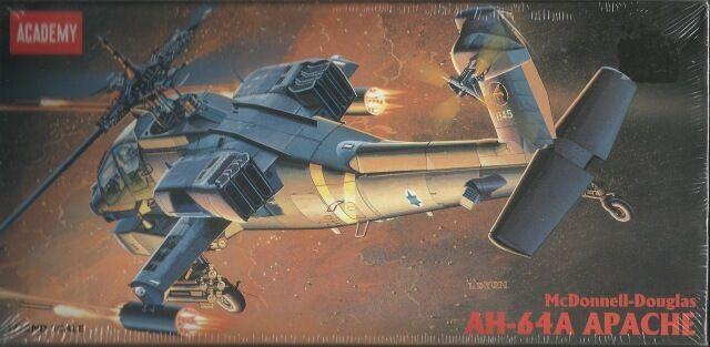 ACADEMY 1 1 1 72 KIT ELICOTTERO  DA MONTARE  AH 64A  APACHE    ART 2138  alta calidad
