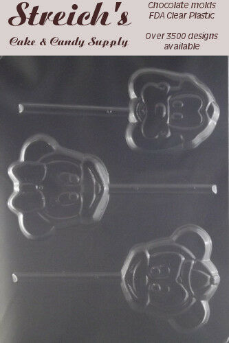 Mickey /& Minnie Mouse Lollipop Candy Mold #199 NEW