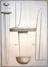 Encyclopédie Méthodique Antiquités Mythologie Armes épées Barbares Baudrier 1786