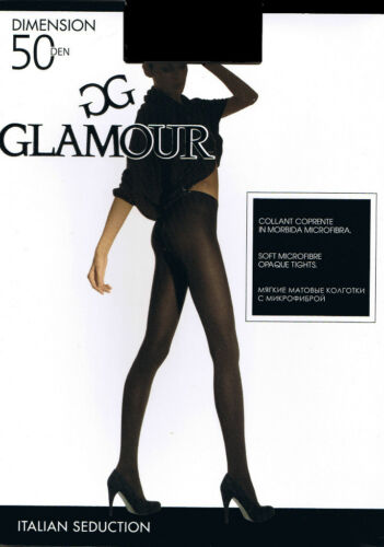 "GLAMOUR ""DIMENSION""TIGHTS  50 DEN MICROFIBRE  COLOUR BLACK"