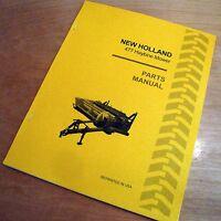 Holland 477 Haybine Mower Conditioner Parts Catalog Book List Manual Nh
