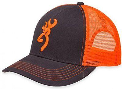 Browning Flashback Cap,Charcoal/Neon Orange