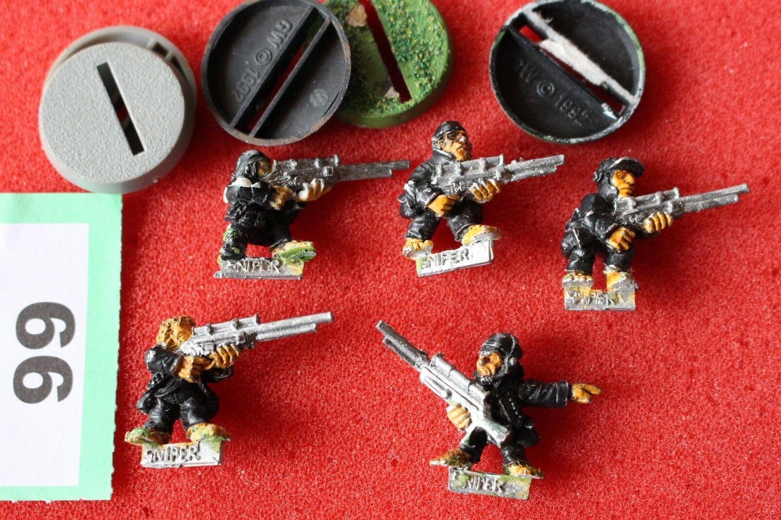 Games Workshop Warhammer 40k Imperial Guards Ratlings Snipers Squad x5 Metal OOP