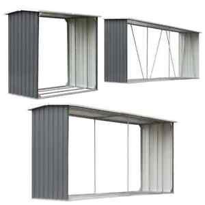 vidaXL-Brennholzlager-Stahl-Kaminholzunterstand-Brennholzregal-mehrere-Auswahl