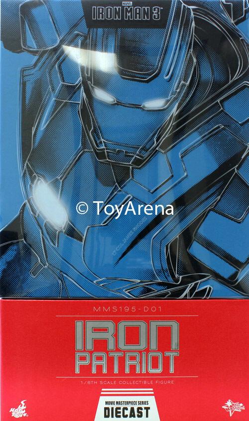 Hot Toys Iron Man 3 Iron Patriot Diecast Iron Man Sixth Scale Figure