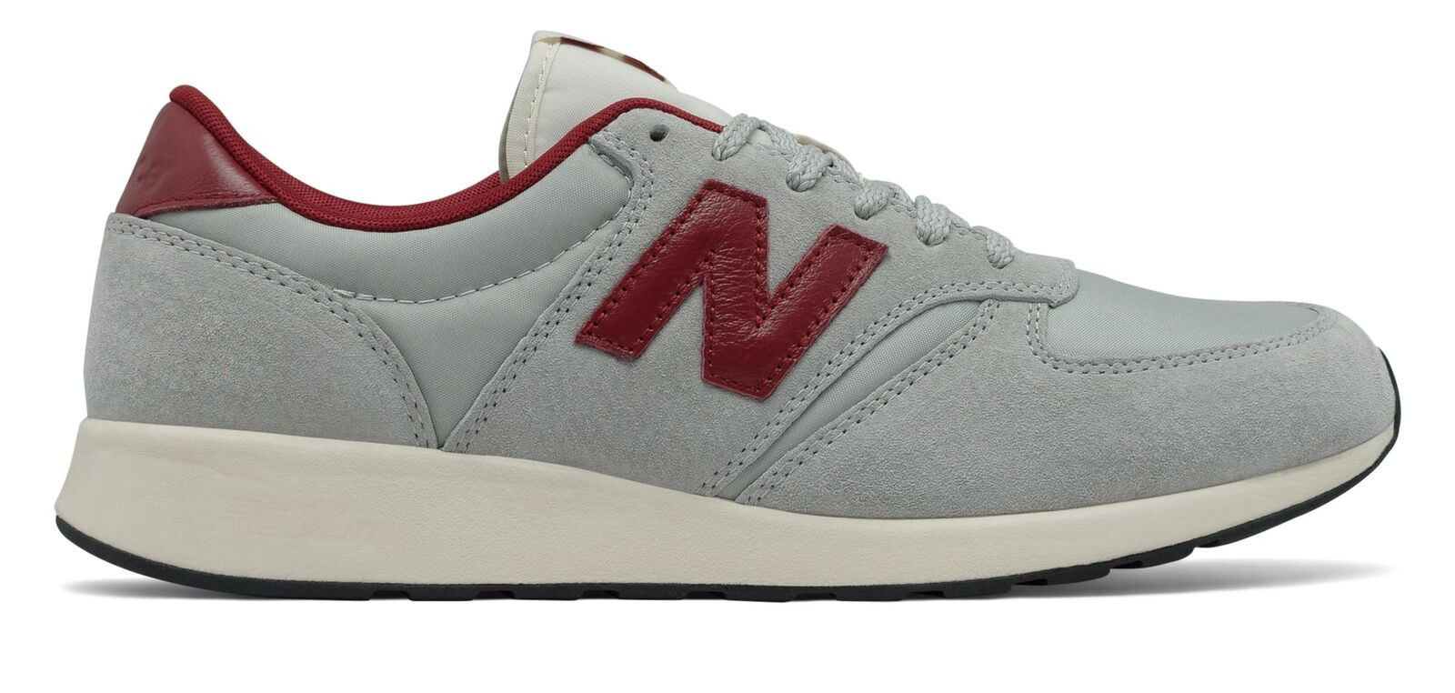 New Balance Male Men's 420 Re-Engineered Suede Comfort Adult Grey With Red