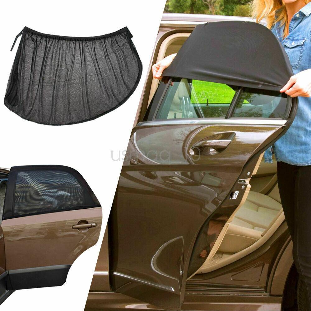 Auto Rover car Window Shade,Sunshade for Car Side Window Clings Baby Side Window Car Sun Shades fits Most of Cars Toyota Camry ,2-Transparent,2-semi Transparent 20x 12 80GSM UPF50+