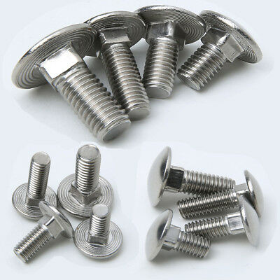 120 X Coach Carriage Bolt M10 X 75Mm Bzp With Nut