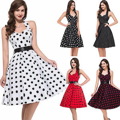 50er Jahre Kleid Petticoat Pin Up Abendkleid Karneval Cocktailkleider