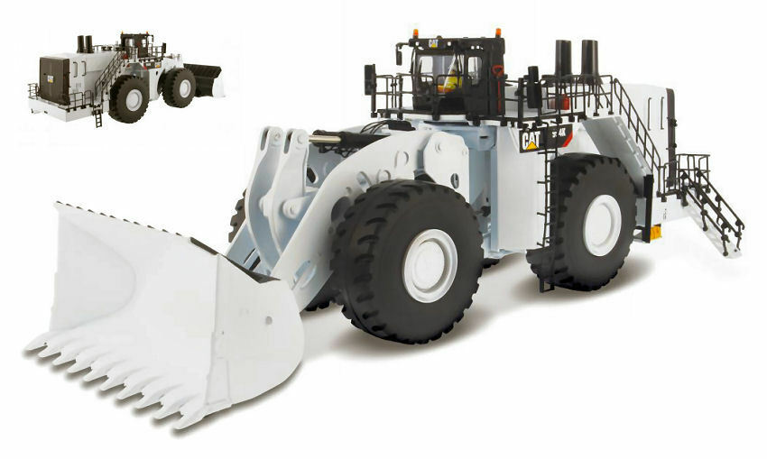Cat 994k Wheel Loader bianca 1 50 Model DIECAST MASTERS