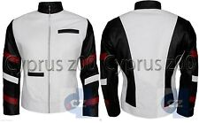 Bruce Lee Popular Vintage Classic White Stylish Men/'s Casual Leather Jacket