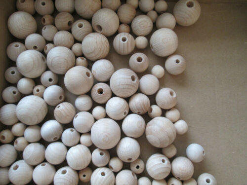 Holzperlen,Naturholzperlen,nach DIN EN 71,in 15,18,20,25mm,unbeh.0,15€//0,25€Stk.
