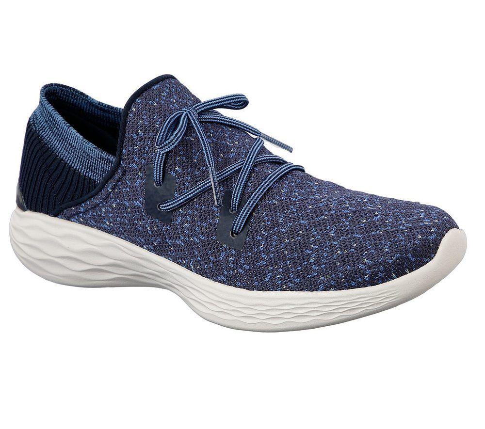 NUOVO Skechers da donna Sneakers tempo Slipper Scarpe per il tempo Sneakers libero Scarpe sportive you-Exhale BLU 7d6d7c